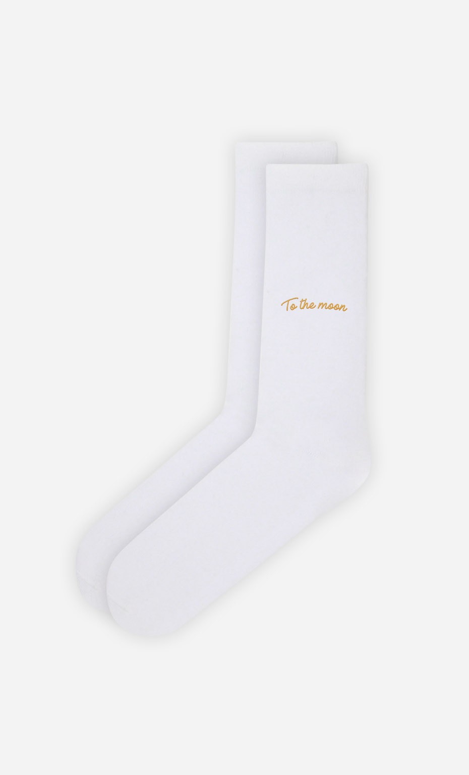 Chaussettes Blanches To The Moon - Duo