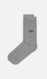 Chaussettes Grises Call Me - Duo