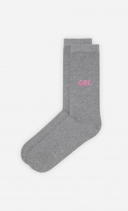 Chaussettes Grises Girl Power - Duo