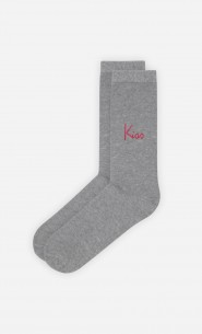 Chaussettes Grises Kiss Cool - Duo