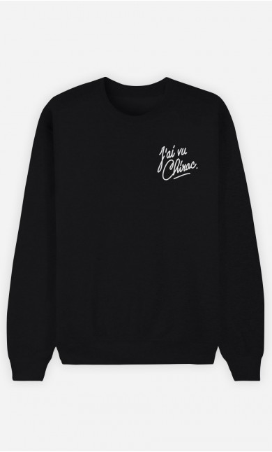 Sweat Noir J'ai vu Chirac