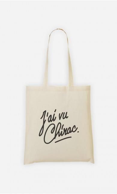 Tote Bag J'ai vu Chirac