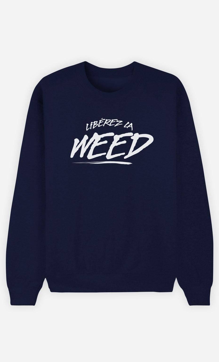 Sweat Bleu Libérez la Weed
