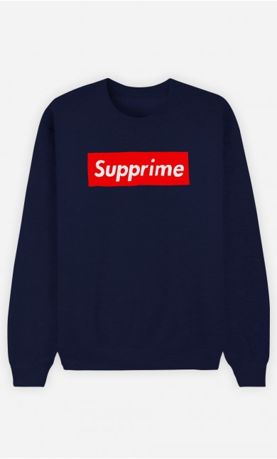 Sweat Bleu Supprime
