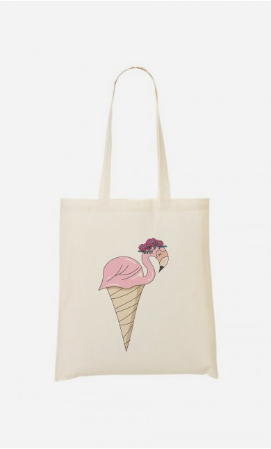 Tote Bag Flamant Glace