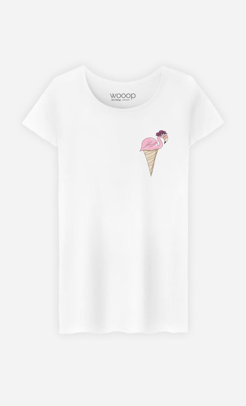 T-Shirt Flamant Glace