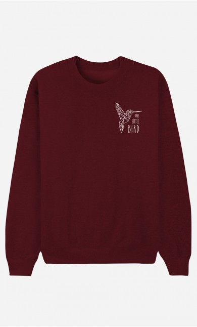 Sweat Bordeaux Free Little Bird