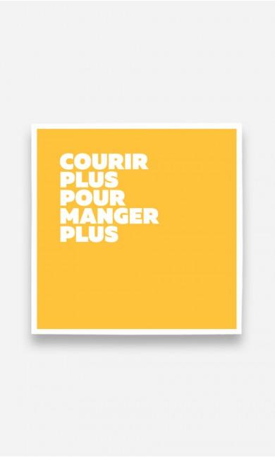Poster Courir Plus Manger Plus