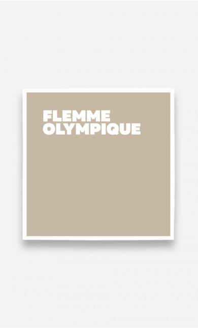 Poster Flemme Olympique