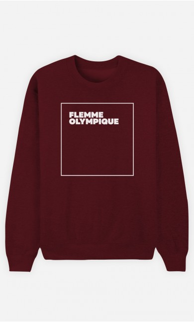 Sweat Bordeaux Flemme Olympique