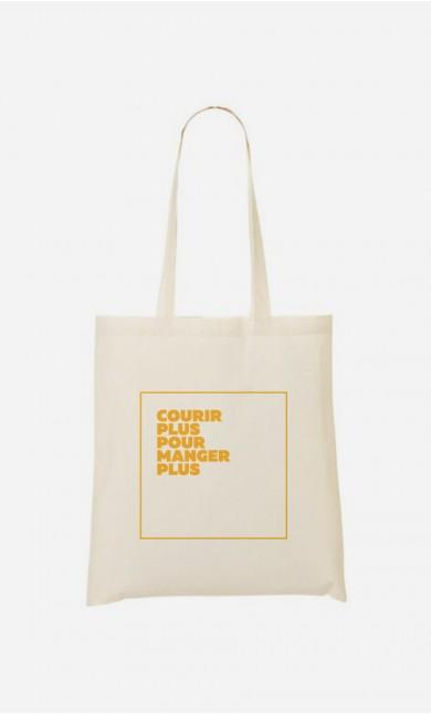Tote Bag Courir Plus Manger Plus