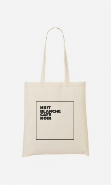 Tote Bag Nuit Blanche Café Noir