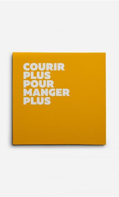 Toile Courir Plus Manger Plus