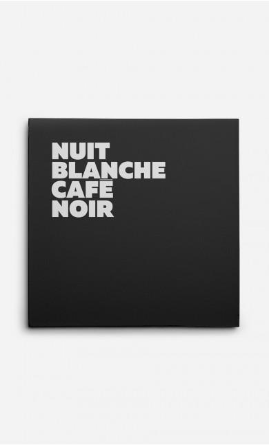 Toile Nuit Blanche Café Noir