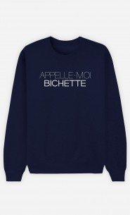 Sweat Bleu Appelle-Moi Bichette