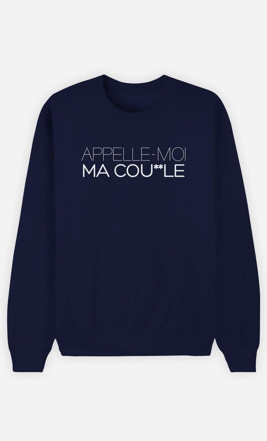 Sweat Bleu Appelle-Moi Ma Caille