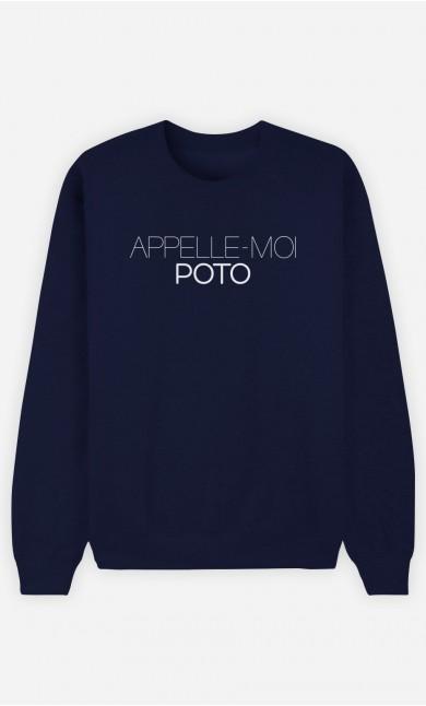 Sweat Bleu Appelle-Moi Poto
