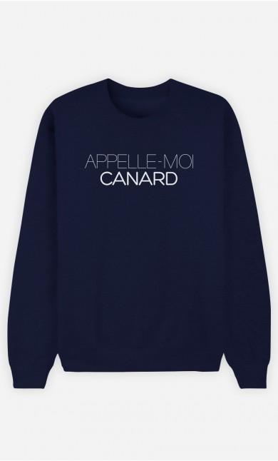 Sweat Bleu Appelle-Moi Canard