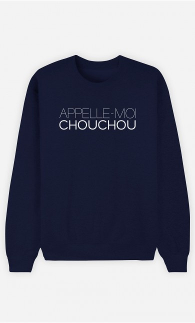 Sweat Bleu Appelle-Moi Chouchou