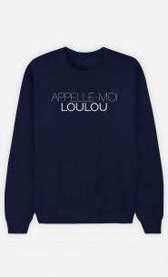 Sweat Bleu Appelle-Moi Loulou