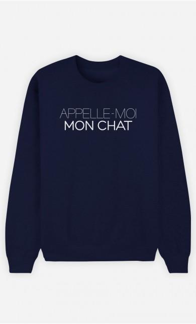 Sweat Bleu Appelle-Moi Mon Chat
