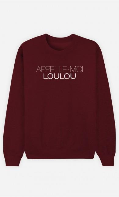 Sweat Bordeaux Appelle-Moi Loulou