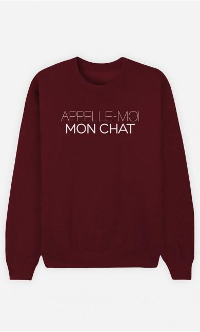 Sweat Bordeaux Appelle-Moi Mon Chat