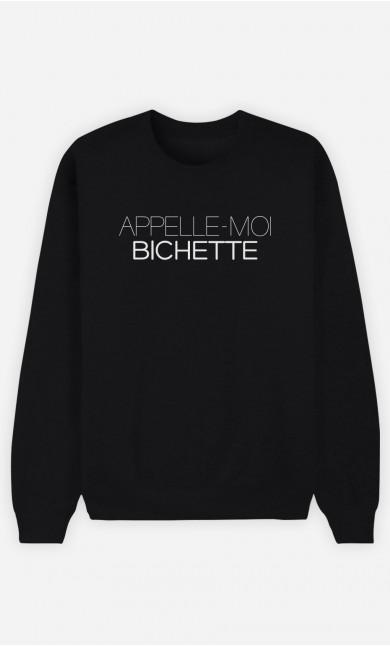 Sweat Noir Appelle-Moi Bichette