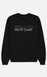 Sweat Noir Appelle-Moi Petit Chat