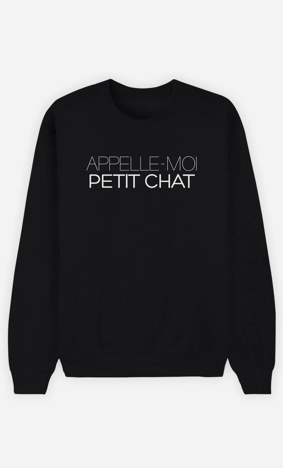 Sweat Noir Appelle-Moi Petit Chat