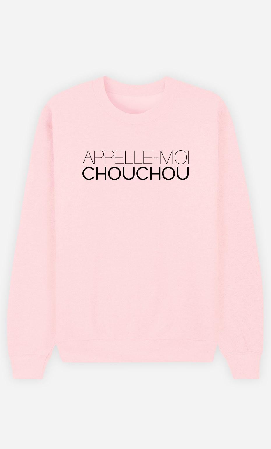 Sweat Rose Appelle-Moi Chouchou