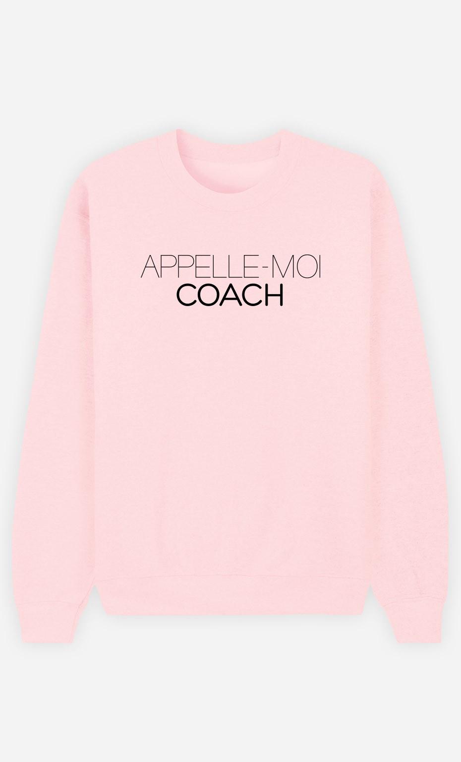 Sweat Rose Appelle-Moi Coach