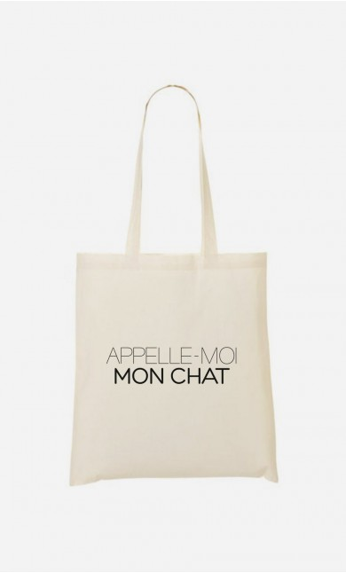 Tote Bag Appelle-Moi Mon Chat