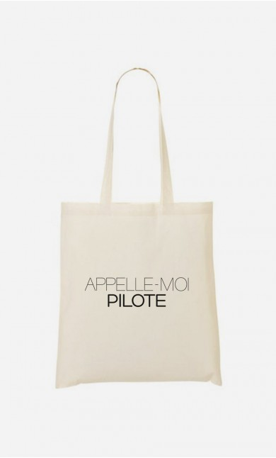 Tote Bag Appelle-Moi Pilote