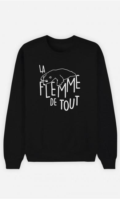 Sweat Noir La Flemme de Tout