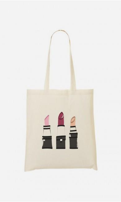 Tote Bag Lipstick - brodé