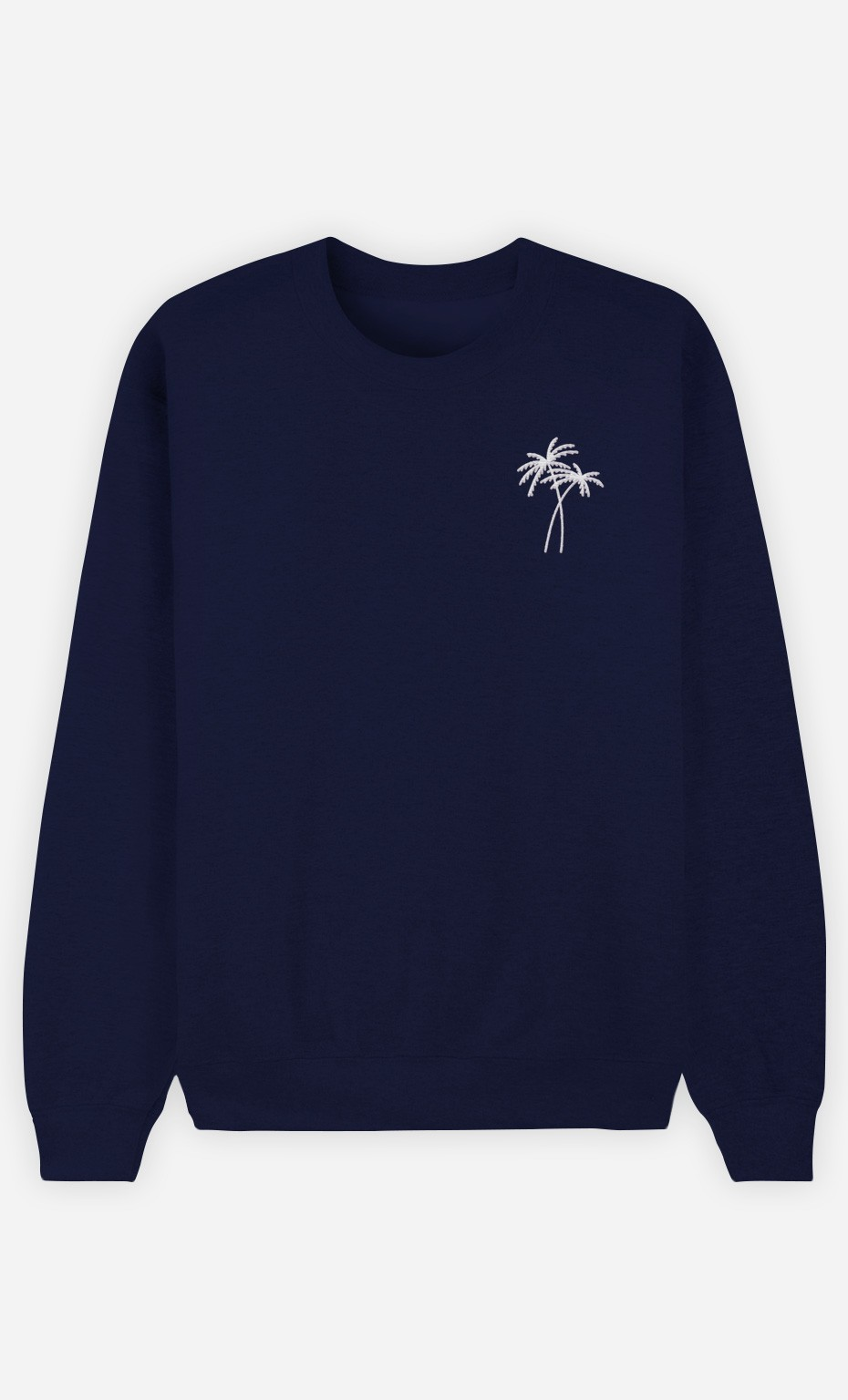 Sweat Navy Palmier - brodé