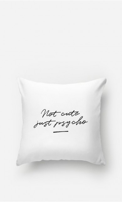Coussin Not Cute - brodé