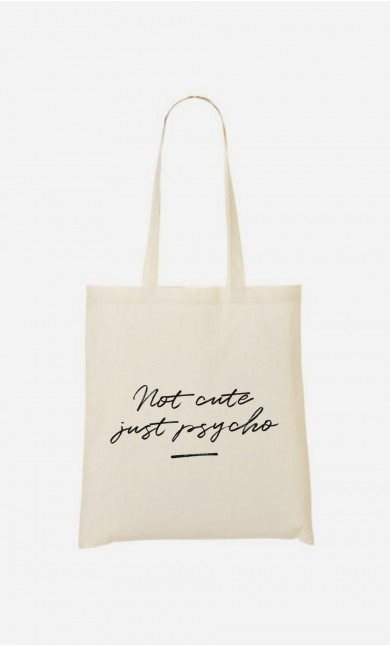 Tote Bag Not Cute - brodé