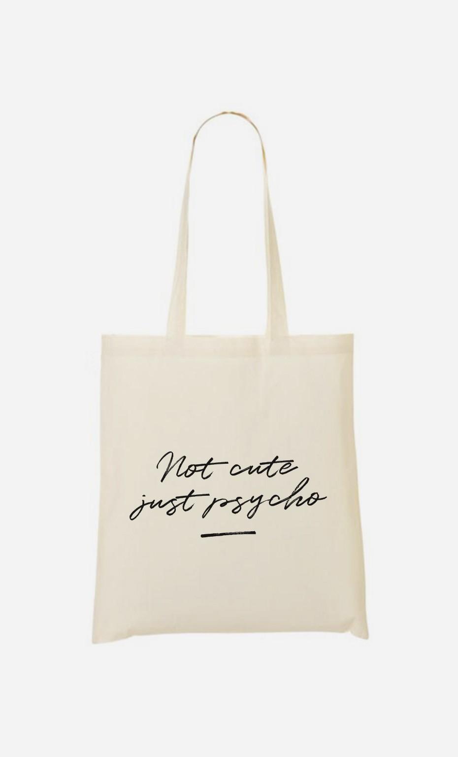 Tote Bag Not Cute - brodé