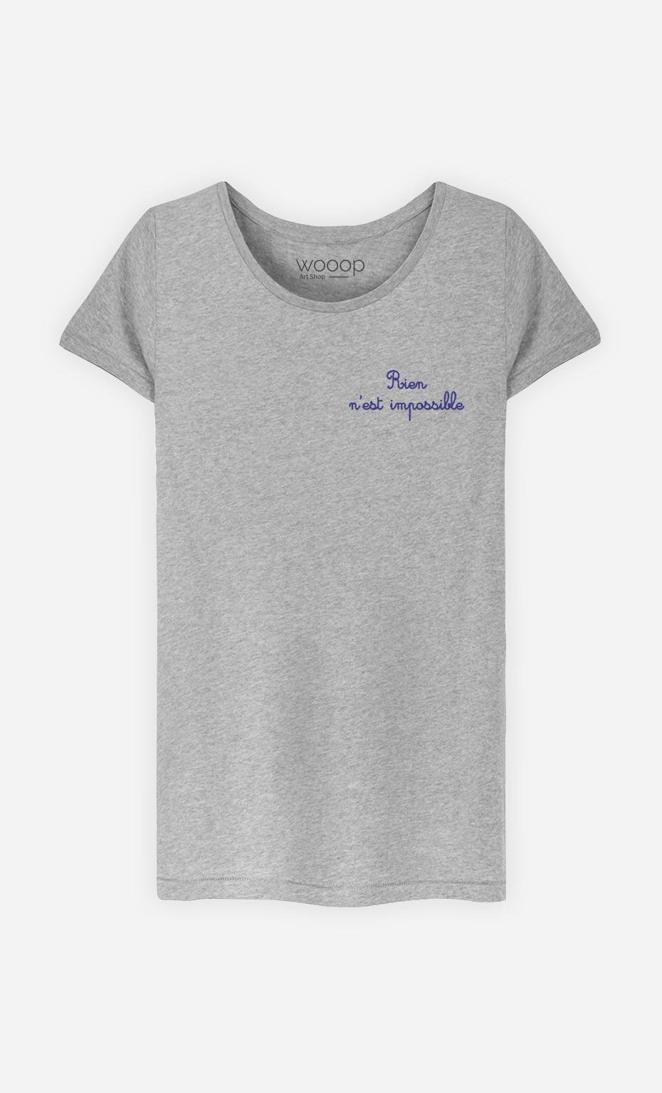 T-Shirt Rien N'est Impossible - brodé