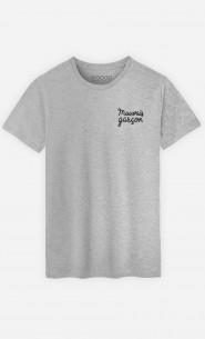 T-Shirt Mauvais Garçon - brodé