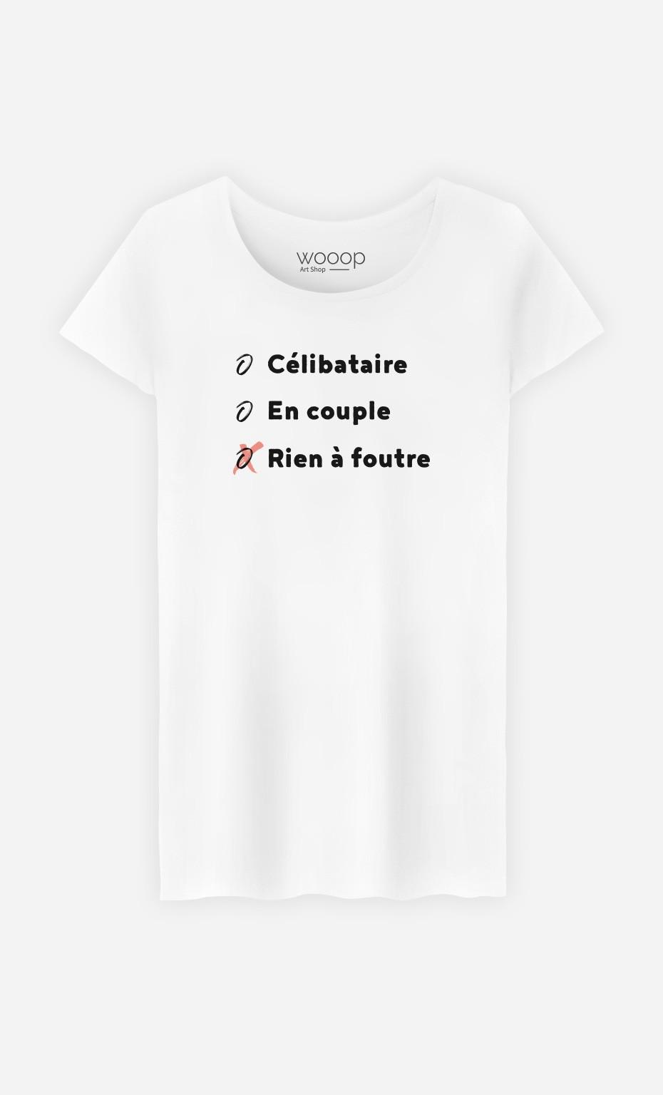 T-Shirt Célibataire, En Couple, Rien à Foutre