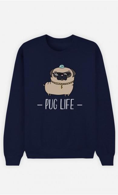 Sweat Bleu Living the Pug Life