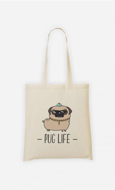 Tote Bag Living the Pug Life