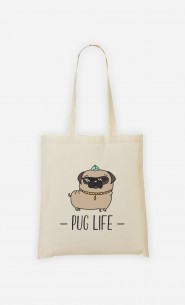 Tote Bag Living the Pug Life