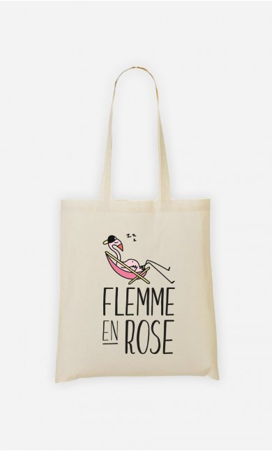Tote Bag Flemme en Rose