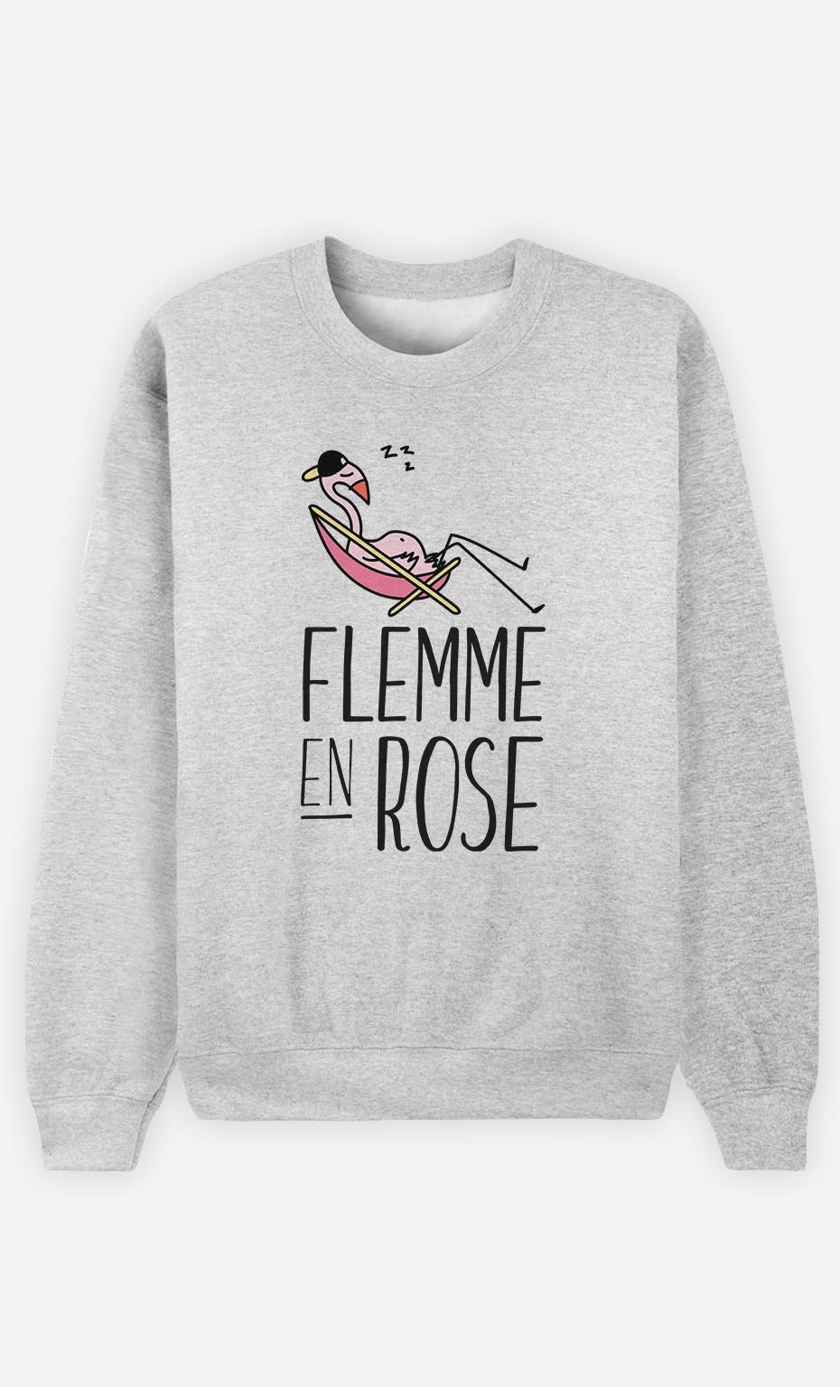 Sweat Flemme en Rose