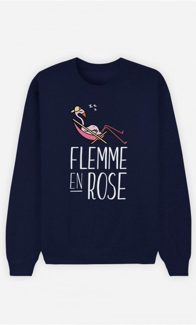 Sweat Bleu Flemme en Rose