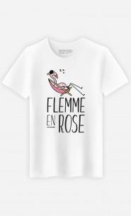 T-Shirt Flemme en Rose